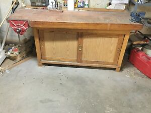 Workbench & Wall Cabinet