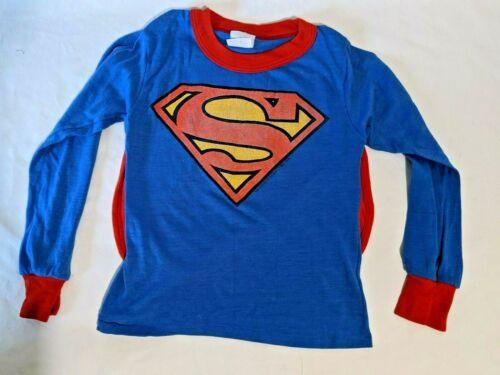 Rare Vintage Superman DC Comics 1974 Boys Size 8 Pajama Top with cape