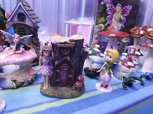 Fairy garden ornaments.. toadstools. Doors. Houses Bridges lights Eagleby Logan Area Preview