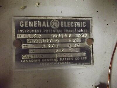 General Electric Potential Transformer Type Je-27 480-120