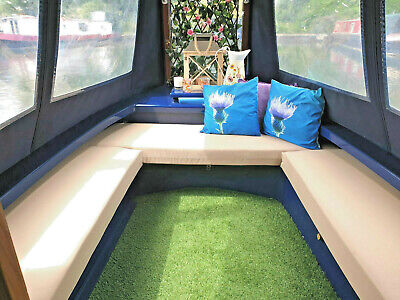 MADE TO MEASURE NARROW BOAT CUSHIONS QUOTE  WATERPROOF + PALLET GARDEN FURNITURE