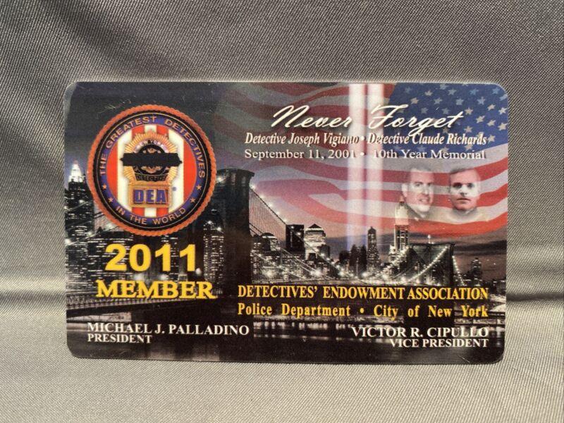 2011 Collectible NYPD DEA Detective PBA Courtesy Card 9/11 10th Anniversary Ed
