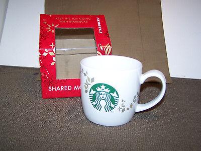 STARBUCKS SHARED MOMENTS 2013 CHRISTMAS COFFEE MUG--NEW IN BOX!!!