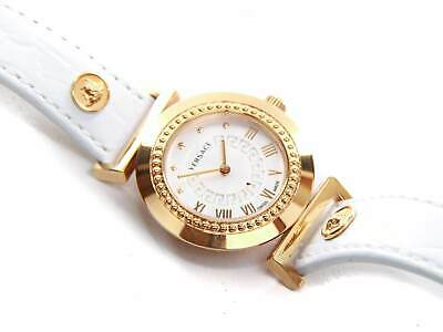 Authentic Versace Vanity white & Rose Gold Wristwatch