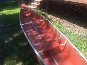 """SOLD - Large Canoe (17'3""""x37"""") Light and sturdy"""