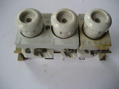 Sicherungssockel 25 Amp. mit Stöppsel und Sicherungen