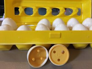 Matching number Egg set. Educational toy
