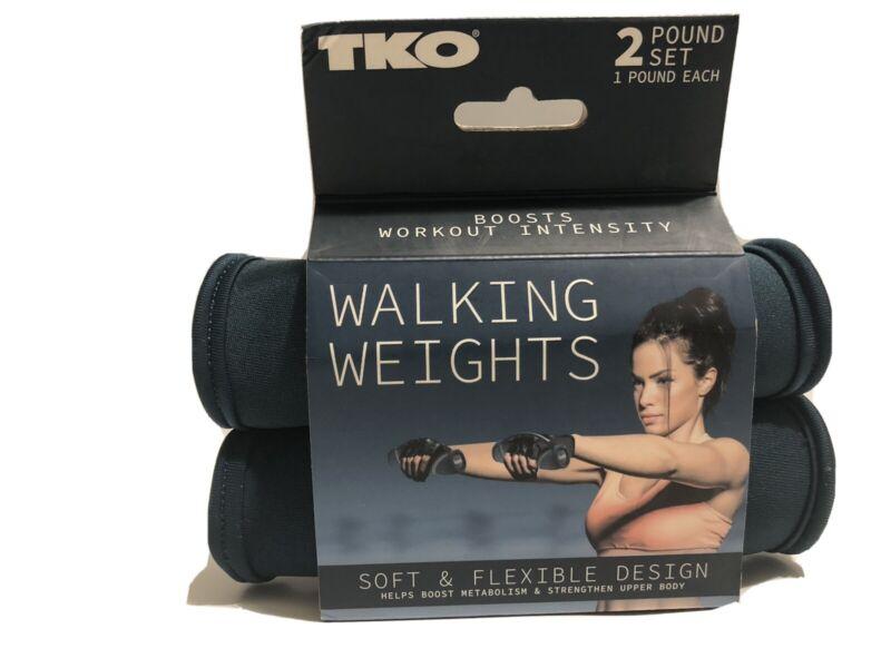 TKO Hand Weights For Walking Or Jogging 2 Ib Set 1 Ib Each Soft Design