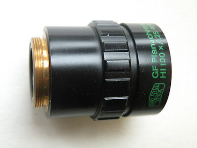 Zeiss Microscope Phase Objective Gf Plan Phv Hi 100x 125 Inf.017-a Adapter