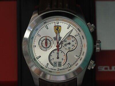 Ferrari Scuderia Brown Leather Band Watch
