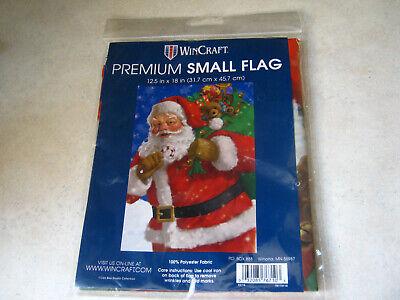 "1 WinCraft Christmas Santa with Bag of Toys Small Garden Flag 12.5"" x 18"" Winter"