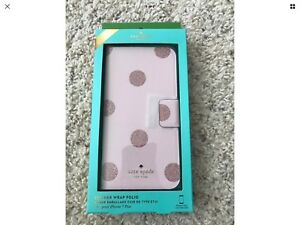 Brand New in Box - Kate Spade iPhone 7+  Glitter Dot Folio case