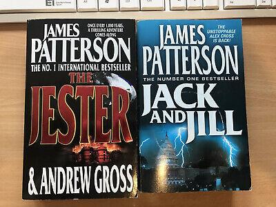 James Patterson 2 Book Bundle Jack & Jill and The Jester - Charity Sale #cjb8