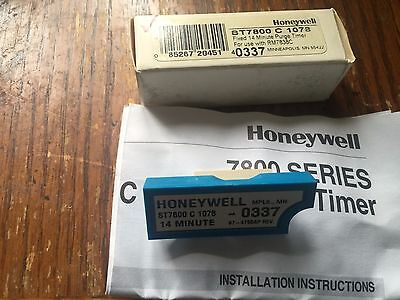 Honeywell St7800c1078 Plug In Purge Timer 14 Minute Timing New In Box