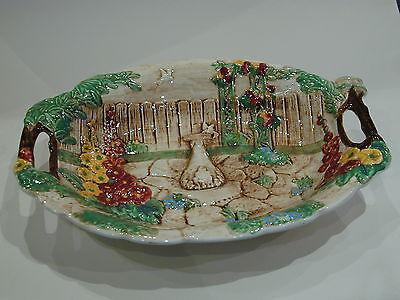 Vintage 1940's Falcon Sylvac Ware Handpainted 'Dovecote'  Table Centre/Bowl