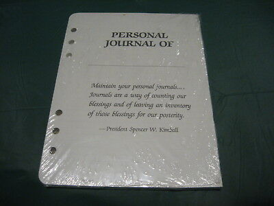 Vtg Lds Mormon Spencer W Kimball Quote Journal 6-ring Day Planner Refill Pages