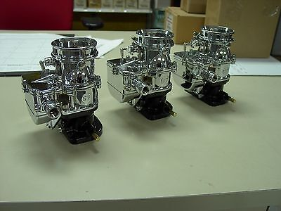 3 brand new 1932 Ford roadster coupe Chrome Stromberg 97 Carb carburetors