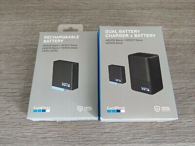 Gopro Dual Battery Charger +TWO Batteries for HERO8 Black, HERO7, 6