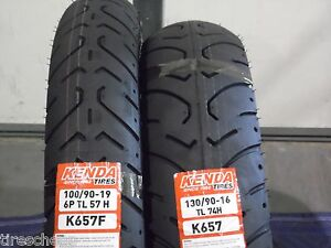 NEW HARLEY SPORTSTER TIRE SET 100/90-19 & 130/90-16 TOURING MOTORCYCLE TIRES