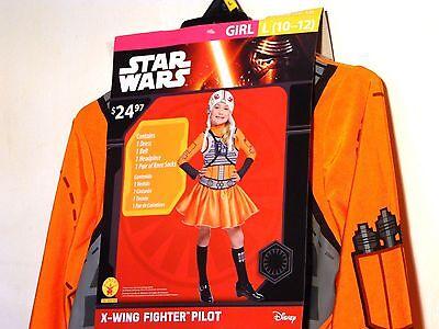 Child Girl DISNEY STAR WARS PILOT Large 10-12 Halloween Costume Dress Up  (Girl Pilot Halloween Costume)