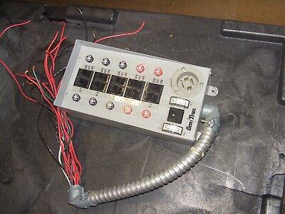 302110 Gentran 10 Breaker Manual Transfer Switch Panel