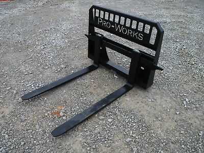 Bobcat Skid Steer Attachment - New 48 5500 Pound Pallet Forks - Ship 149