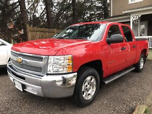 2012 Chevy Silverado, 1500 LT, crew cab, red w chrome