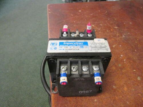Micron Impervitran Control Transformer B100PU15JK 0.100KVA Pri: 240/480V Used