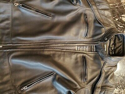 Harley Davidson M Willie G SKULL LEATHER JACKET 98099-07VM EUC