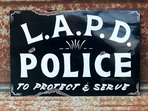 ORDER A PERSONALIZED PAINTED POLICE STATION Department Sign Highway Patrol Law