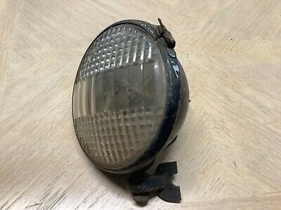 Vintage Tractor Lamp Early Glass Cats Eye Lens Old Automobile Driving Light