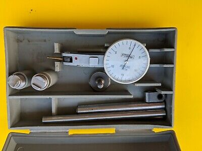 Fowler Dial Test Indicator With Box And Tools In It. .001 Inch