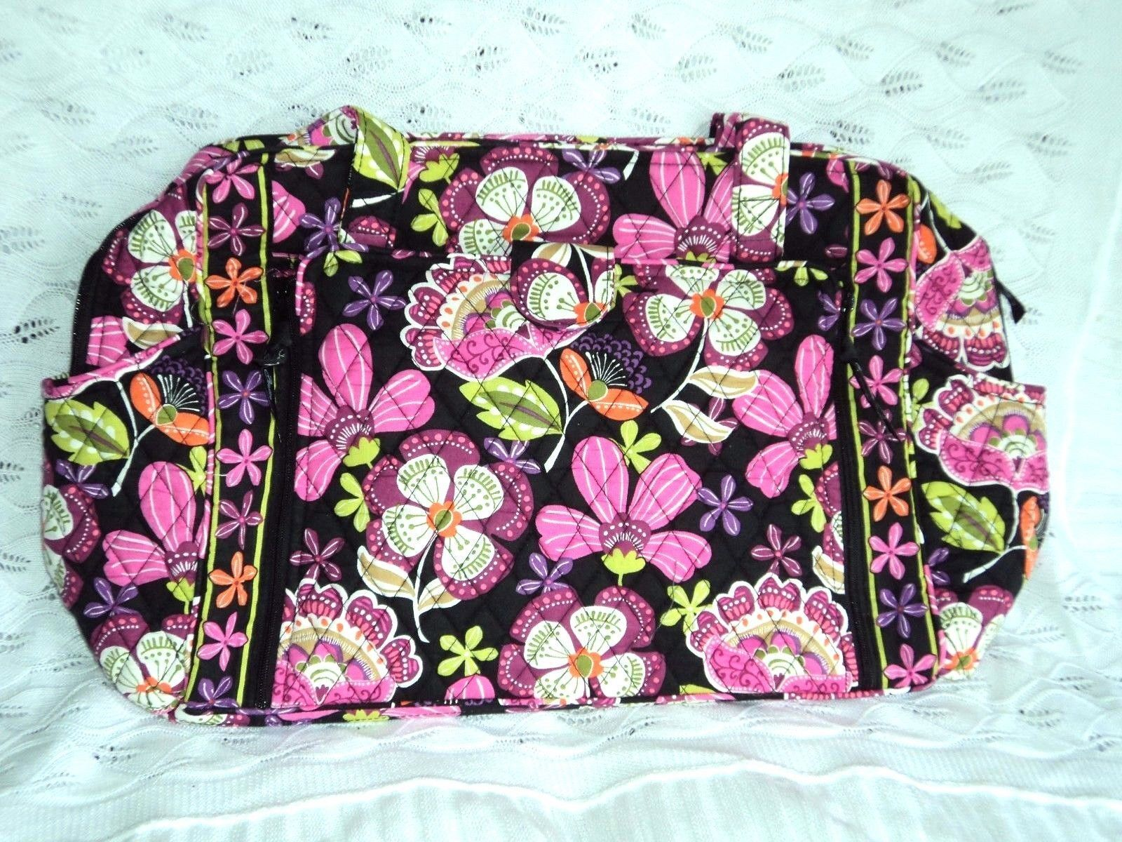 Vera Bradley Make a Change Baby Bag in Pirouette Pink Cotton Floral ... 7eef59c335023