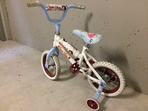 Girls two wheel bike with training wheels