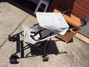 Folding portable baby stroller