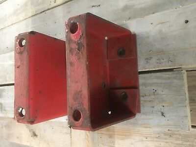 Massey Ferguson 85 Industrial Tractor Fender Extensions Risers 7 Inch Rise.