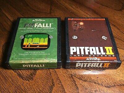 Atari 2600 Lot Pitfall & Pitfall II 2 Vintage Activision Video Games Pitfall!