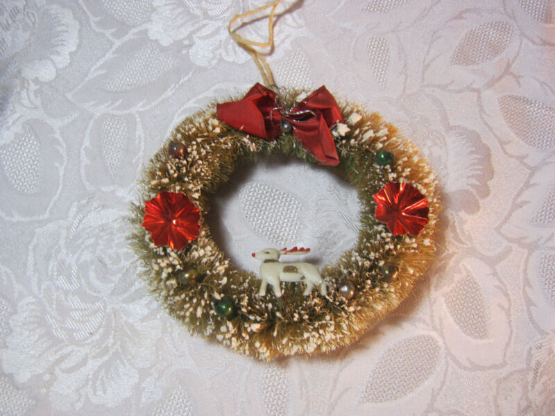 CHRISTMAS WREATH DECORATION VINTAGE    T*
