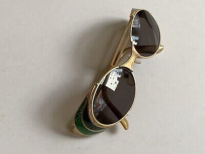 Jean Paul Gaultier 56-7109 90s Vintage steampunk side shields oval sunglasses 7C