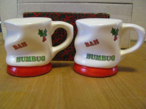 Vintage 1988 Enesco BAH HUMBUG Christmas Salt & Pepper Shaker Set in Box 376035
