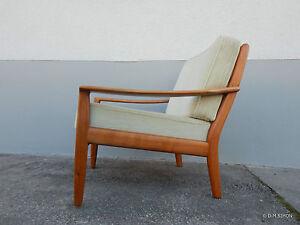 Sessel Easy chair Lounge STRAUB danish design 60er 70er Mid century Kirschbaum