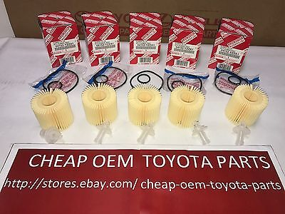 Toyota Genuine OEM Oil Filter Quantity Pack of 5 part# 04152YZZA1 04152-YZZA1
