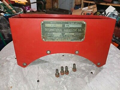 Mccormick Farmall Ih F20 Original Serial Tag Tool Box An Bolts Nice Tractor Part