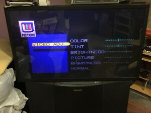 "Panasonic's year 2000 flagship 56"" rear projection hd tv 1080i"