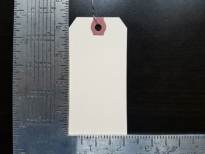 100- 4-14 X 2-18 Wired Manila Tag Hang Label Shipping Inventory Stock Size 4