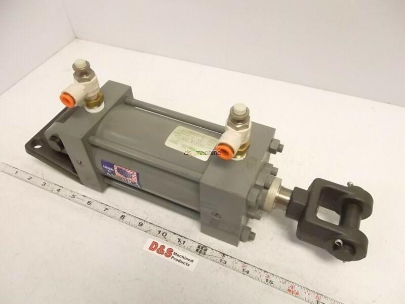 """Miller Fluid Power A84B2B Pneumatic Cylinder 3.25""""Bore 4""""Stroke"""