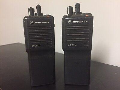 Motorola Mt 2000 Two Way Vhf Radios Mt2000 Wbattery Lot Of 10 Free Shipping