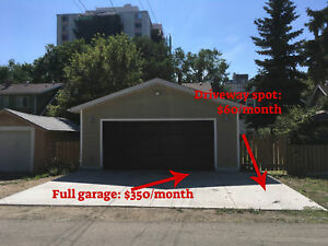 Garage and driveway parking spot for rent: University Area!