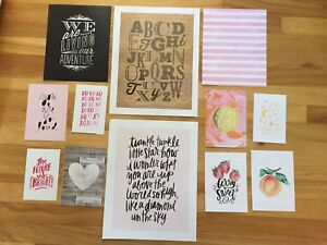SET OF 12 PINK THEME GALLERY WALL PRINTS