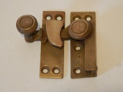 Original Old Antique Brass Sash Window Lock Vintage #IM318